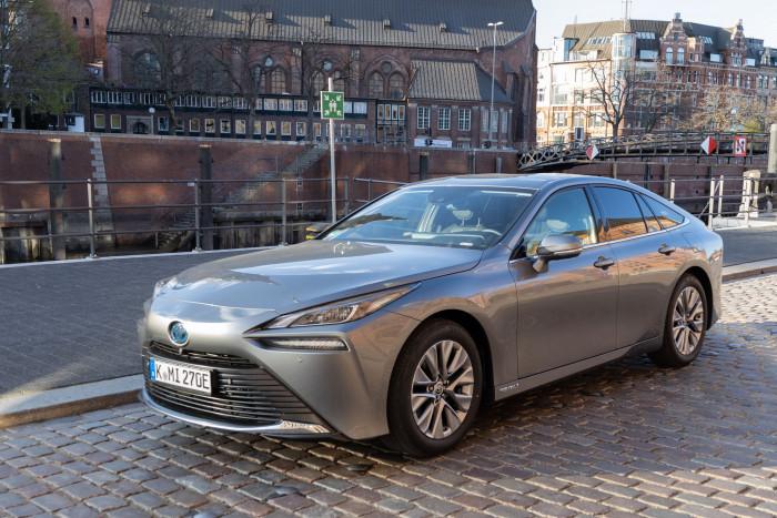 Das Brennstoffzellenauto Toyota Mirai (Bild: Werner Pluta/Golem.de)
