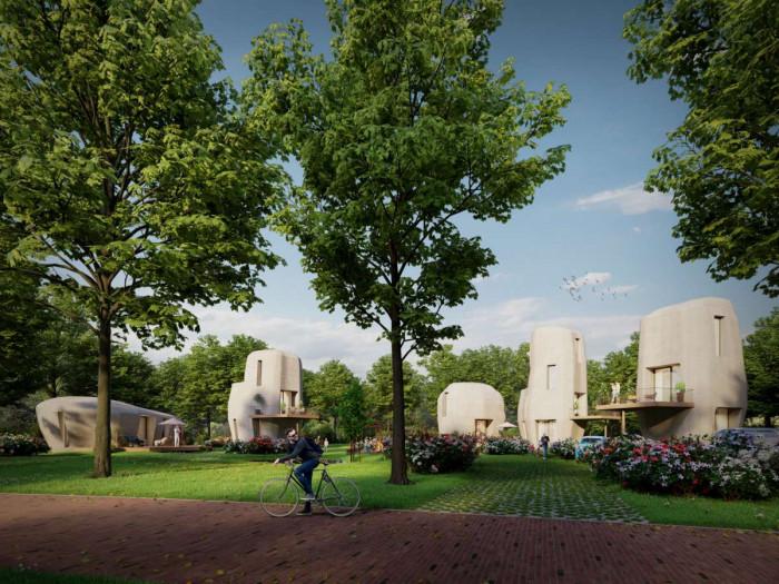 Betonhaus aus dem 3D-Drucker (Bild: Weber Benelux)