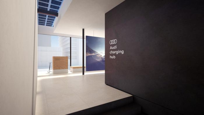 Lounge im Audi Charging Hub (Bild: Audi)