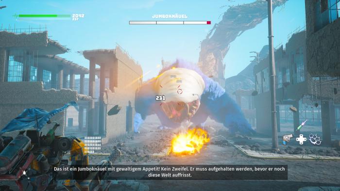 Einer der toll animierten Oberbosse. (Bild: THQ Nordic / Screenshot: Golem.de)