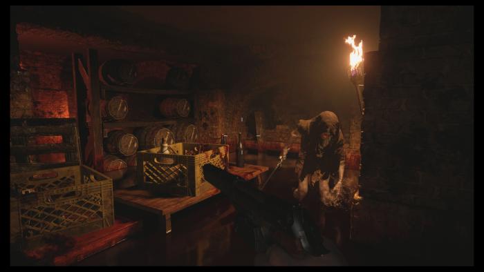 Ein Monster verteidigt seine Schätze im Weinkeller. (Bild: Capcom/Screenshot: Golem.de)