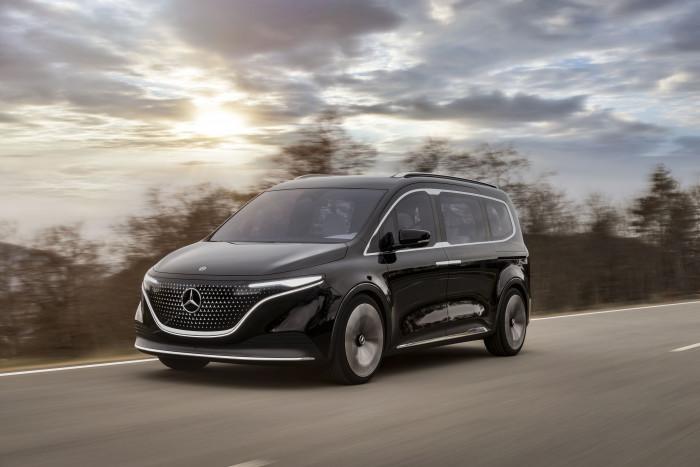 Der Mercedes EQT ist ein Hochdachkombi mit elektrischem Antrieb. (Bild: Mercedes)