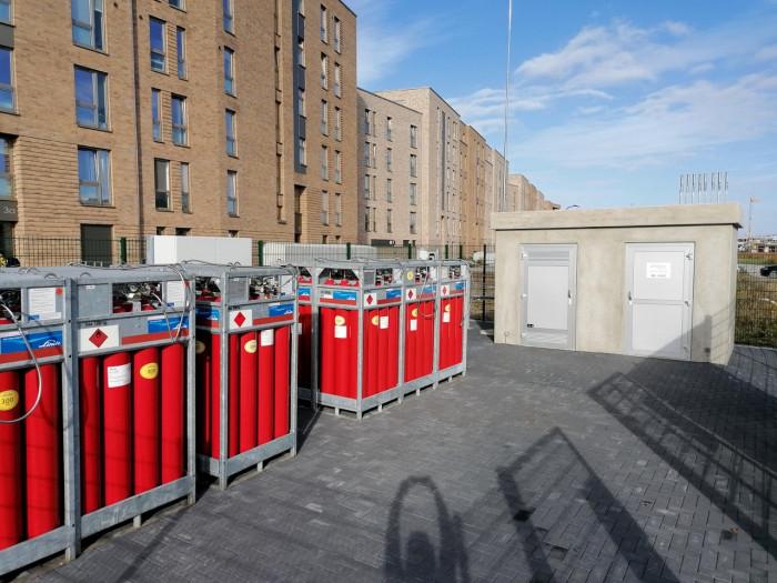 273 Wohnungen sind Teil des wissenschaftlich begleiteten Praxistests in Hamburg-Bergedorf. (Bild: Gasnetz Hamburg)