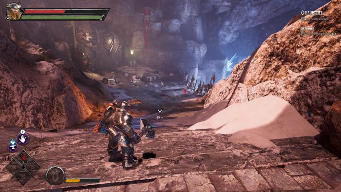Als Solo-Zwerg sondieren wir die Lage vor uns. (Bild: Wizards of the Coast/Screenshot: Golem.de)
