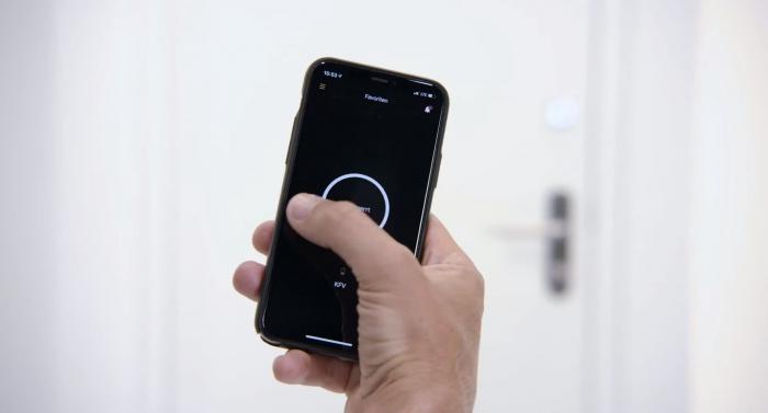 Smart Door wird per App gesteuert. (Bild: Nuki)