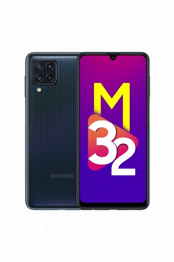 Das Galaxy M32 von Samsung wird in Schwarz ... (Bild: Samsung)