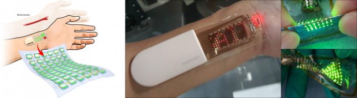 Der Pulsmesser mit dehnbarem OLED-Display. (Bild: Samsung)
