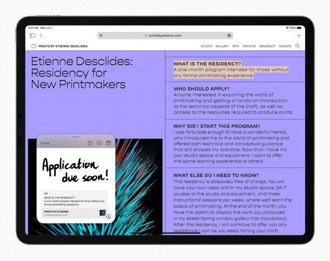Neue iPadOS-15-Funktionen (Bild: Apple)