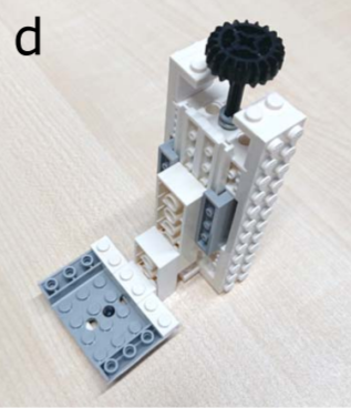 Element D stellt einen einstellbaren Linsenhalter dar. (Bild: Bart E. Vos/Emil Betz Blesa/Timo Betz)
