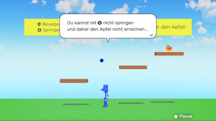"""Den """"Bug"""" mit der nicht funktionierenden Taste fixen wir in Spielestudio selbst. (Bild: Nintendo / Screenshot: Golem.de)"""