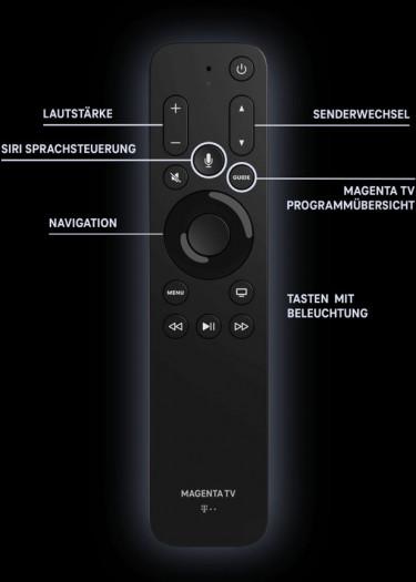 Apple TV 4K mit spezieller Telekom-Fernbedienung (Bild: Deutsche Telekom)