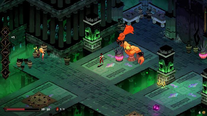 Zagreus kämpft sich durch eine höllische Kammer nach der anderen. (Bild: Supergiant Games/Screenshot: Golem.de)