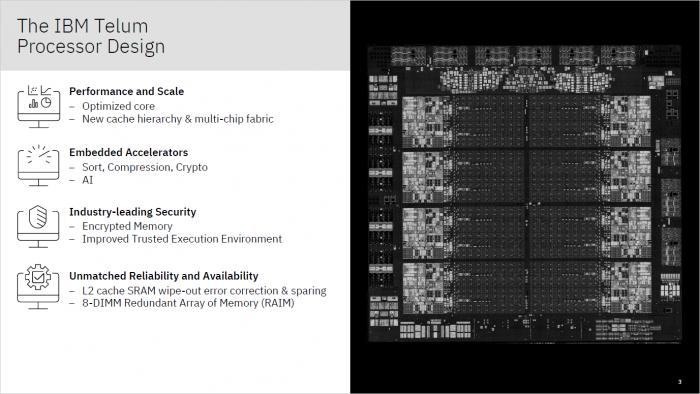 Telum-CPU für Z-Mainframes (Bild: IBM)