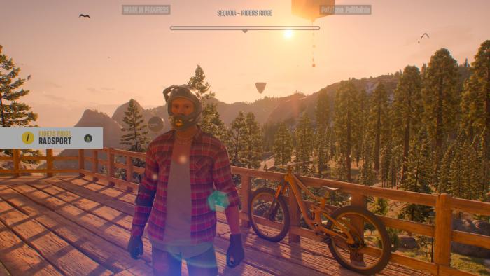 Im Fahrerlager erhalten wir unser erstes MTB. (Bild: Ubisoft / Screenshot: Golem.de)