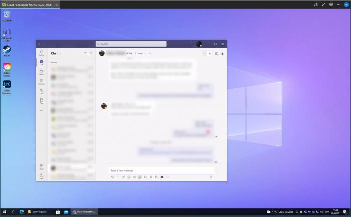 Microsoft Teams und ... (Screenshot: Golem.de)