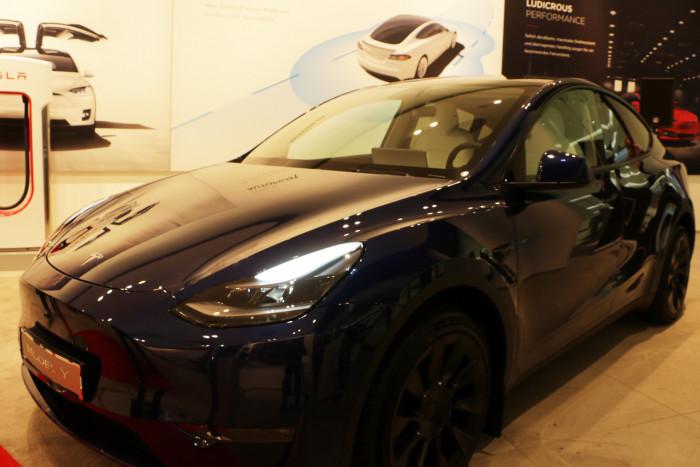 Tesla hat die ersten Model Y für deutsche Kunden nach Europa importiert. (Foto: Friedhelm Greis/Golem.de)