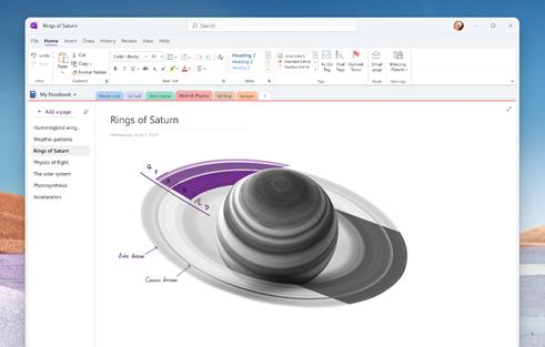 Mockup von Onenote für Windows (Bild: Microsoft)