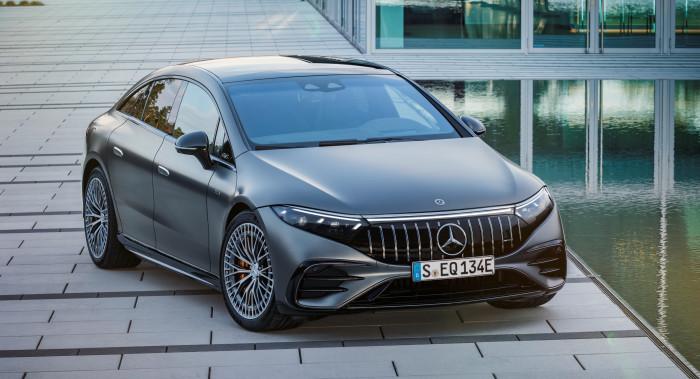 Der AMG EQS 53 4Matic+ ist das erste vollelektrische Modell der Daimler-Tochter Mercedes-AMG. (Foto: Daimler)