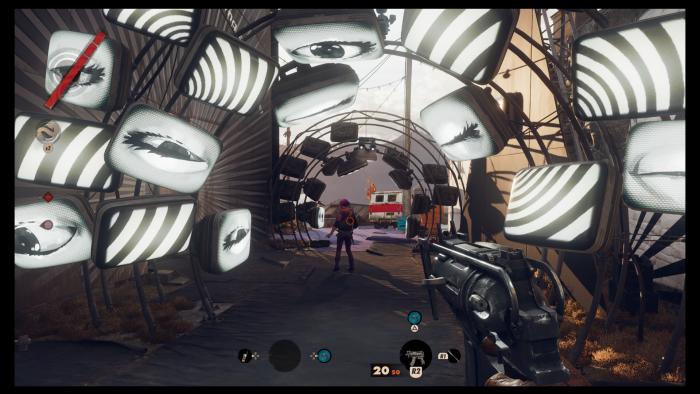 So surreal wie dieser Abschnitt sind viele, aber längst nicht alle Umgebungen in Deathloop. (Bild: Bethesda / Screenshot: Golem.de)