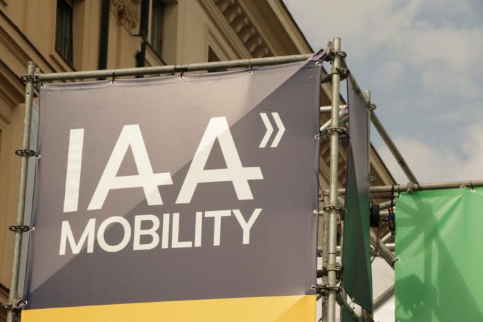 Die IAA Mobility 2021 hat sich auch in der Münchner Innenstadt breitgemacht. (Foto: Friedhelm Greis)