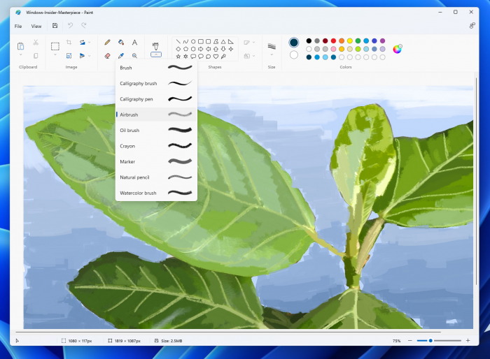Das neue Microsoft Paint (Bild: Microsoft)