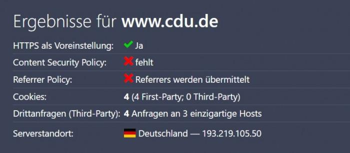 Die CDU hat bei der Cookie-Nutzung nachgebessert. (Grafik: Christiane Schulzki-Haddouti)