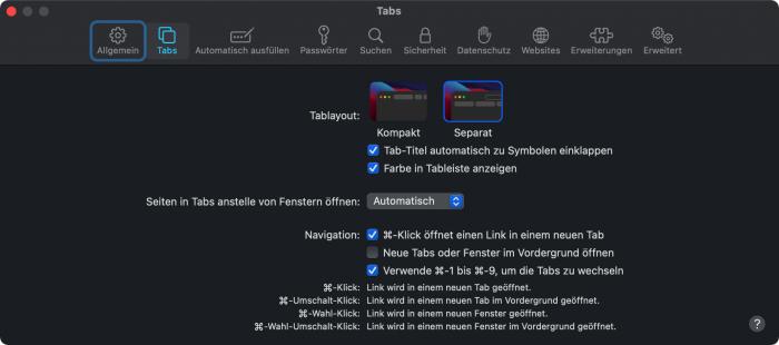 Safari 15 für MacOS (Bild: Andreas Donath)