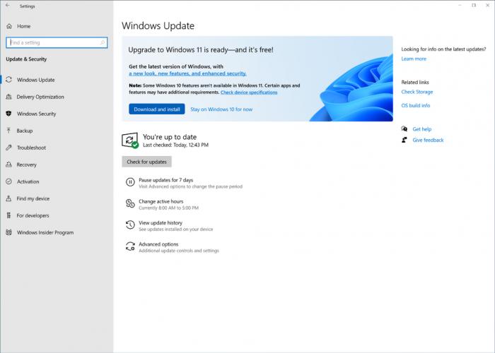 Windows 11 wird per Windows Update heruntergeladen. (Bild: Microsoft)