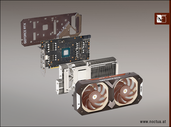 Explosionsdiagramm der Geforce RTX 3070 Noctua Edition (Bild: Noctua)