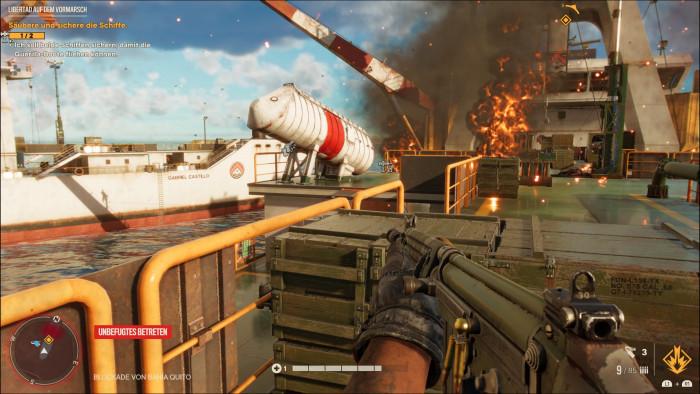 Längst nicht alle Hauptmissionen sind so spektakulär wie dieser Einsatz auf Schiffen. (Bild: Ubisoft/Screenshot: Golem.de)