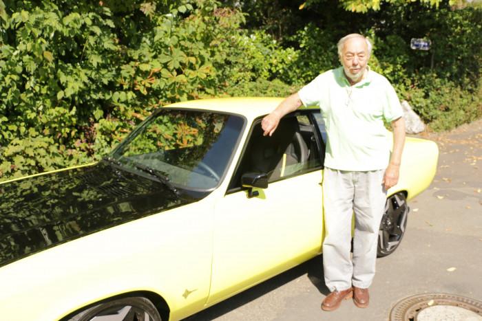 Dem Designer des Original-Manta, George Gallion, gefällt das umgebaute Exemplar sehr gut. (Foto: Friedhelm Greis/Golem.de)
