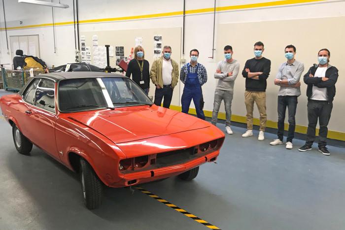 Der Originalmanta aus dem Jahr 1974 war noch orange. (Foto: Opel)