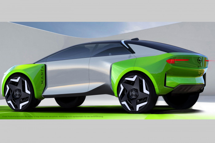 So stellt sich Opel die Neuauflage des Manta für Mitte des Jahrzehnts vor. (Grafik: Opel)
