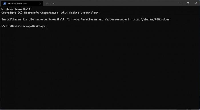 Das Windows Terminal ist in Windows 11 integriert. (Screenshot: Oliver Nickel/Golem.de)